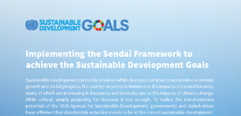 Implementing the Sendai Framework to achieve the Sustainable Development Goals