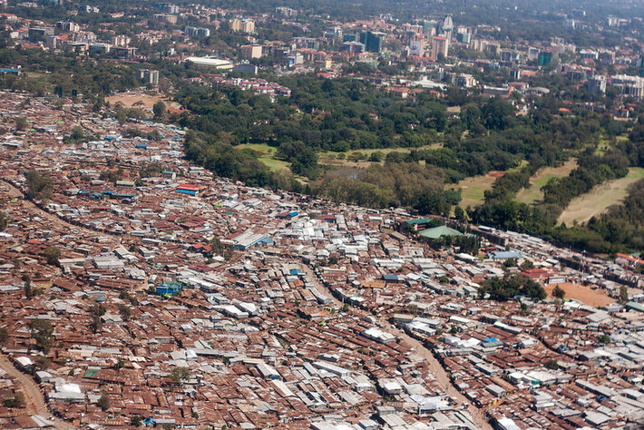 An informal settlement in Nairobi